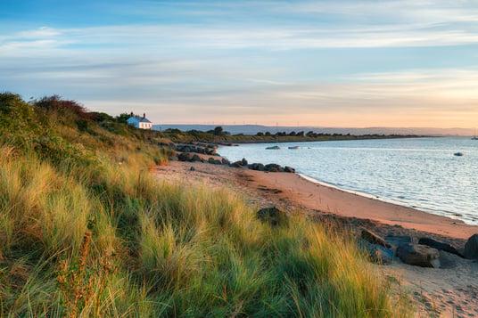 sunset North Devon coast