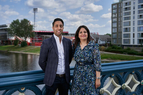 Ricky & Rohini at home in Nottingham