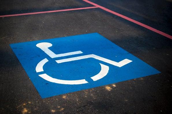 disability car park sign
