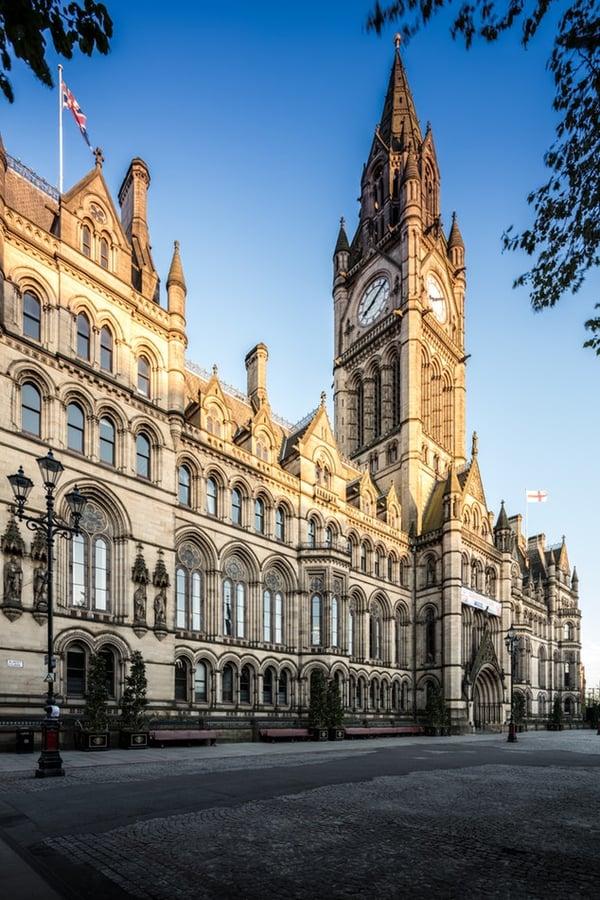 Manchester town hall UK England Manny Man u