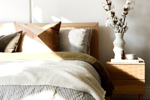bedroom linen and furniture