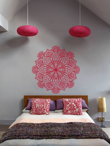 pink bedroom pattern dorm