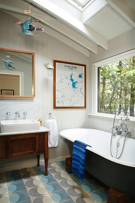 blue bathroom ideas interior