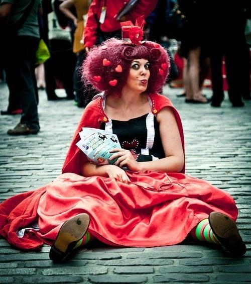 Edinburgh tourist attraction mime city