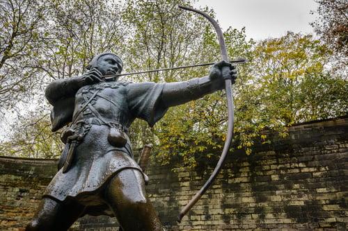 statue of robin hood, nottingham